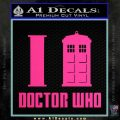 I TARDIS Doctor Who Decal Sticker Pink Hot Vinyl 120x120