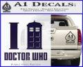 I TARDIS Doctor Who Decal Sticker PurpleEmblem Logo 120x97