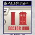 I TARDIS Doctor Who Decal Sticker Red 120x120