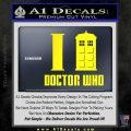 I TARDIS Doctor Who Decal Sticker Yellow Laptop 120x120