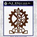 Imi Firearms Decal Sticker BROWN Vinyl 120x120