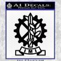 Imi Firearms Decal Sticker Black Vinyl 120x120