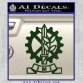 Imi Firearms Decal Sticker Dark Green Vinyl 120x120