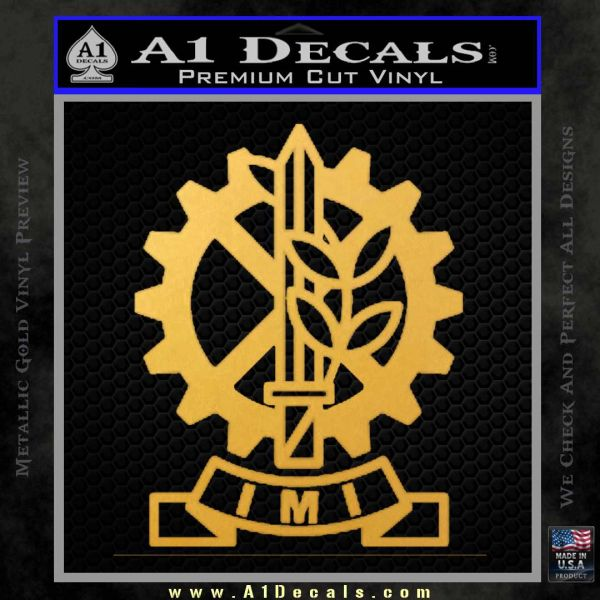 Imi Firearms Decal Sticker Gold Vinyl