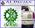 Imi Firearms Decal Sticker Green Vinyl Logo 120x97