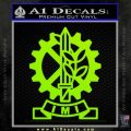 Imi Firearms Decal Sticker Lime Green Vinyl 120x120