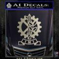 Imi Firearms Decal Sticker Metallic Silver Emblem 120x120