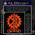 Imi Firearms Decal Sticker Orange Emblem 120x120
