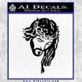 Jesus Face Decal Sticker V5 Black Vinyl 120x120