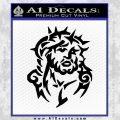 Jesus In Thorns Decal Sticker Black Vinyl 120x120