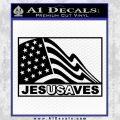 Jesus Saves USA Decal Sticker Black Vinyl 120x120
