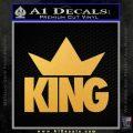 King Crown Clothing D1 Decal Sticker Gold Vinyl 120x120