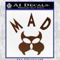 MAD Inspector Gadget Decal Sticker BROWN Vinyl 120x120