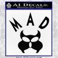 MAD Inspector Gadget Decal Sticker Black Vinyl 120x120