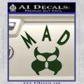 MAD Inspector Gadget Decal Sticker Dark Green Vinyl 120x120