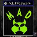 MAD Inspector Gadget Decal Sticker Lime Green Vinyl 120x120
