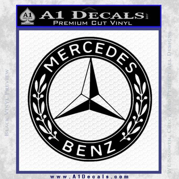 Mercedes benz wheel center cap sticker for A mercedes benz product sticker