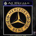 Mercedes Benz C2 Decal Sticker Gold Vinyl 120x120