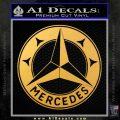 Mercedes Benz C3 Decal Sticker Gold Vinyl 120x120