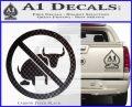 No Bull Shit Decal Sticker Carbon FIber Black Vinyl 120x97