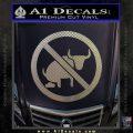No Bull Shit Decal Sticker Carbon FIber Chrome Vinyl 120x120