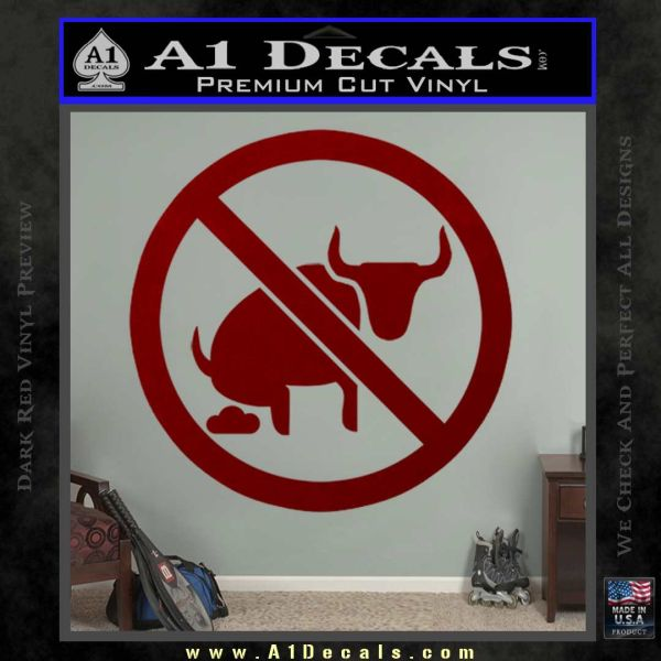 No Bull Shit Decal Sticker DRD Vinyl