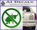 No Bull Shit Decal Sticker Green Vinyl Logo 120x97