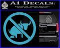 No Bull Shit Decal Sticker Light Blue Vinyl 120x97