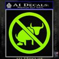 No Bull Shit Decal Sticker Lime Green Vinyl 120x120