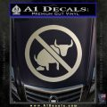 No Bull Shit Decal Sticker Metallic Silver Emblem 120x120