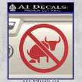 No Bull Shit Decal Sticker Red 120x120
