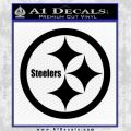 Pittsburgh Steelers Decal Sticker Black Vinyl 120x120