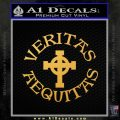Veritas Aequitas Celtic Cross D1 Decal Sticker Boondock Saints Irish Gold Vinyl 120x120