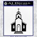 christian church decal Black Vinyl 120x120