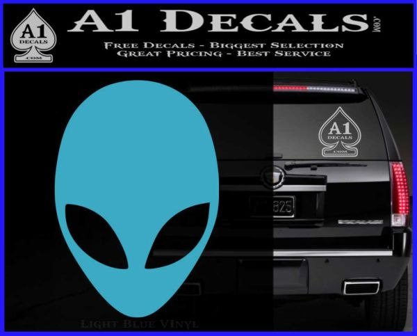 Alien Head Decal Sticker Roswell 187 A1 Decals