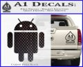 Android Official Logo Decal Sticker Carbon FIber Black Vinyl 120x97