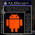 Android Official Logo Decal Sticker Orange Emblem 120x120