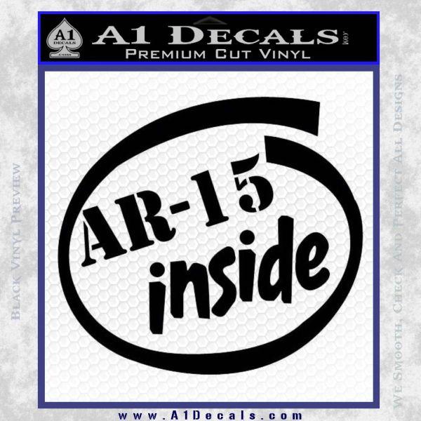 Ar 15 Inside Decal Sticker Black Vinyl