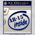 Ar 15 Inside Decal Sticker Blue Vinyl 120x120
