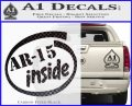 Ar 15 Inside Decal Sticker Carbon FIber Black Vinyl 120x97