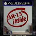 Ar 15 Inside Decal Sticker DRD Vinyl 120x120