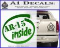 Ar 15 Inside Decal Sticker Green Vinyl Logo 120x97