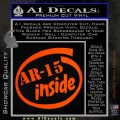Ar 15 Inside Decal Sticker Orange Emblem 120x120