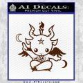 Baby Baphomet Decal Sticker BROWN Vinyl 120x120