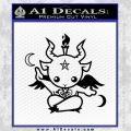 Baby Baphomet Decal Sticker Black Vinyl 120x120