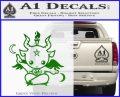 Baby Baphomet Decal Sticker Green Vinyl Logo 120x97