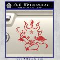 Baby Baphomet Decal Sticker Red 120x120