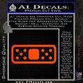 Band Aide Decal Sticker Single Orange Emblem 120x120