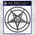 Baphomet Pentagram Decal Sticker Black Vinyl 120x120