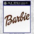 Barbie Decal Sticker BROWN Vinyl 120x120